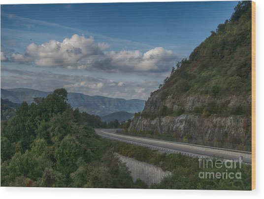 Rt 26 Overlook Wood Print