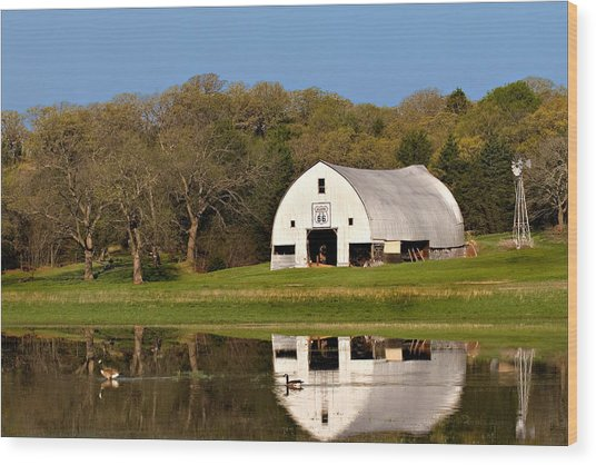 Rt 66 Hay Farm Oklahoma Wood Print