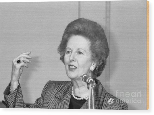 Rt.hon. Margaret Thatcher Wood Print