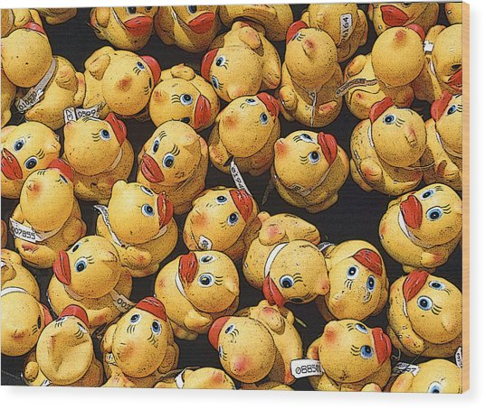 Rubber Duckies Annual Race For Charity Wood Print by Rob Huntley