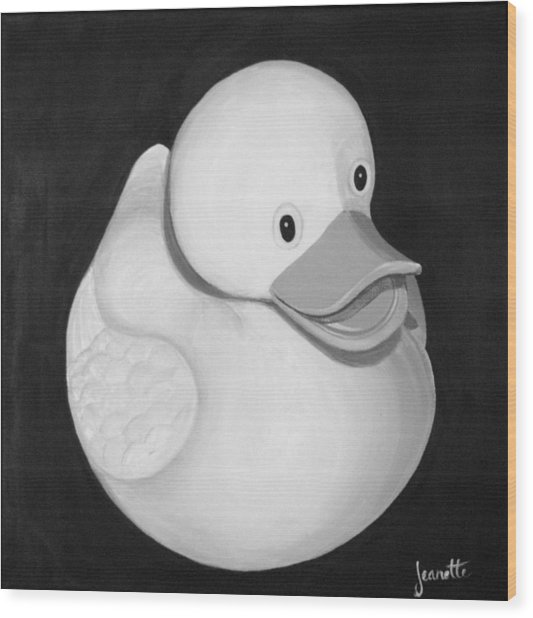 Rubber Ducky Wood Print