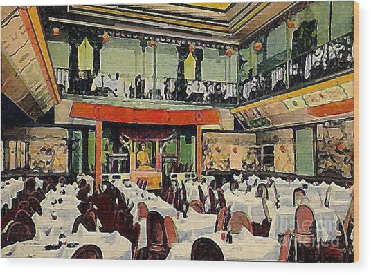 Ruby Foo Den Chinese Restaurant In New York City Wood Print by Dwight Goss