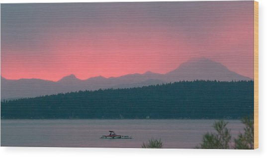 Ruby Rainstorm Wood Print