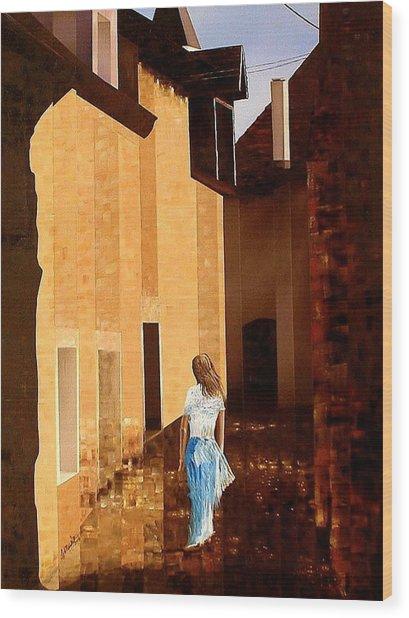 Rue De L'art Wood Print by Laurend Doumba