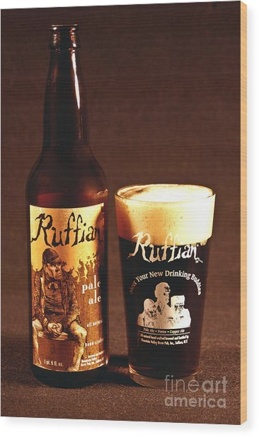 Ruffian Ale Wood Print