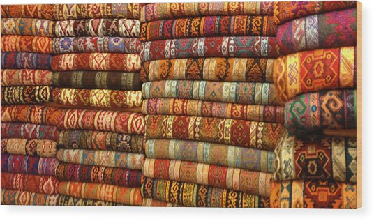 Rugs Kilims Carpets Grand Bazaar Istanbul Turkey Wood Print by PIXELS  XPOSED Ralph A Ledergerber Photography