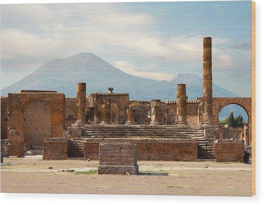 Ruins Of Pompeii Wood Print
