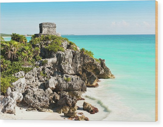 Ruins Of Tulum Wood Print by Asmithers