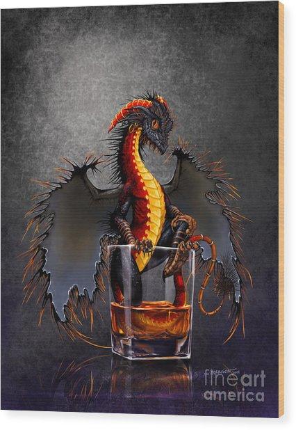 Rum Dragon Wood Print