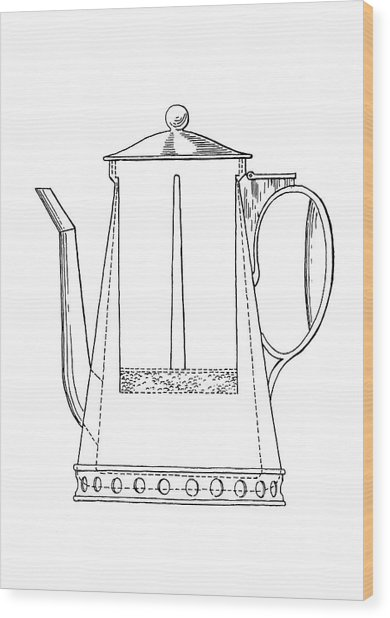 Rumford Coffeemaker Wood Print