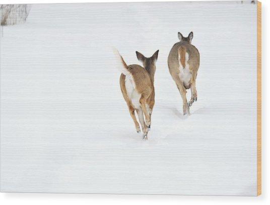 Run Forrest Run Wood Print