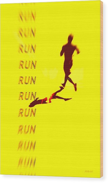 Run Run Run Wood Print by Brian D Meredith