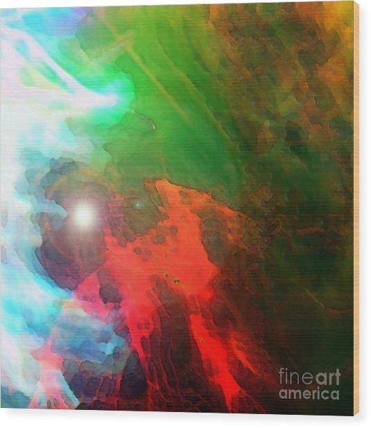 Run Towards The Light Wood Print