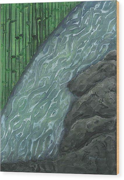 Running Stream Wood Print