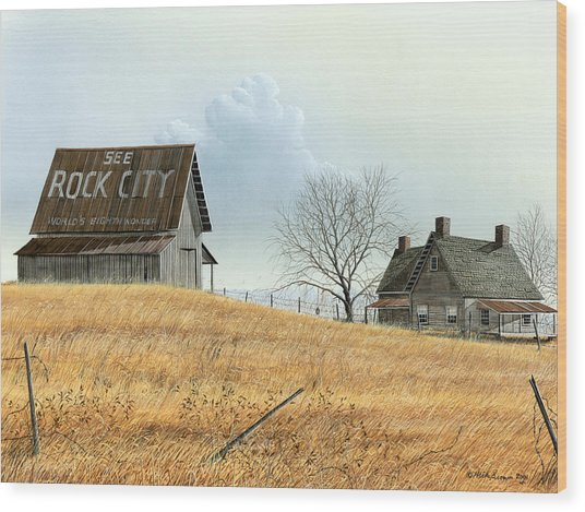 Rural America Wood Print