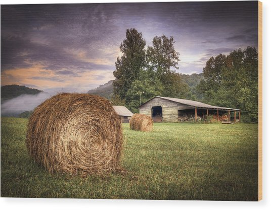 Rural American Farm Wood Print