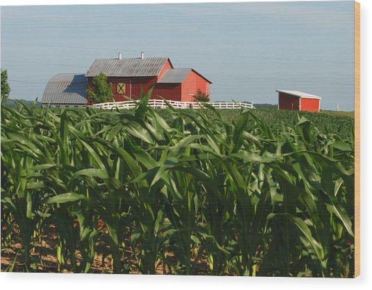 Rural Art Wood Print