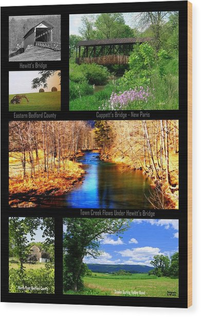 Rural Bedford County Wood Print
