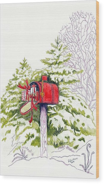 Country Living Christmas Delivery Wood Print