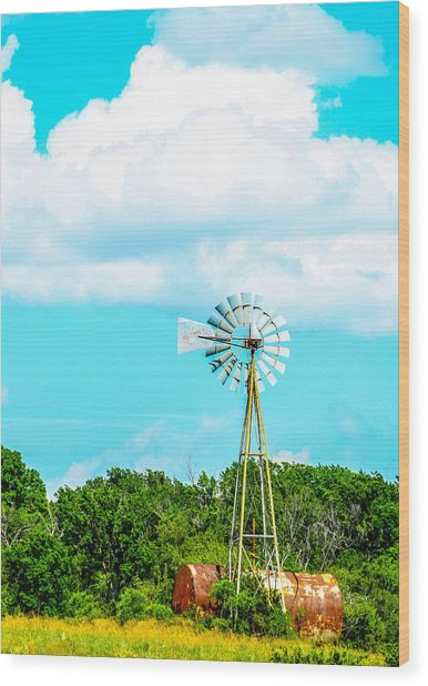 Rural Texas Wood Print