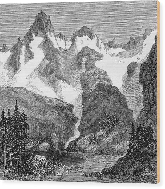 Rush Creek Glacier Wood Print by Universal History Archive/uig