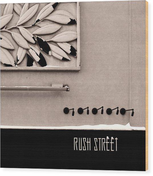 Rush Street Wood Print