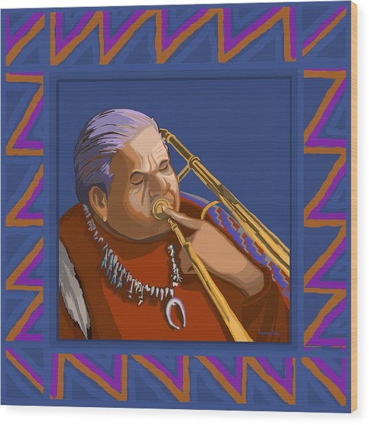 Russell Big Chief Moore Wood Print