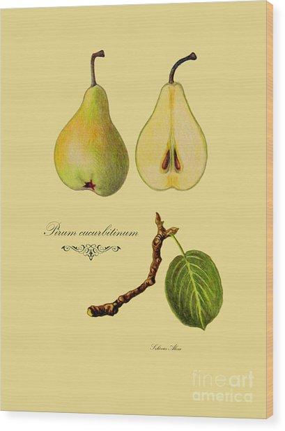 Russet Pear Wood Print