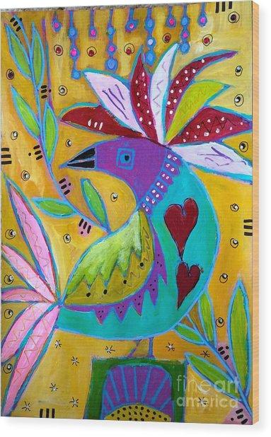 Russian Bird  Wood Print