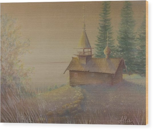 Russian Chapel Wood Print