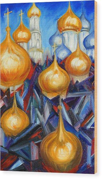 Russian Domes Wood Print