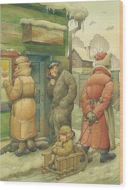 Russian Scene 07 Wood Print by Kestutis Kasparavicius