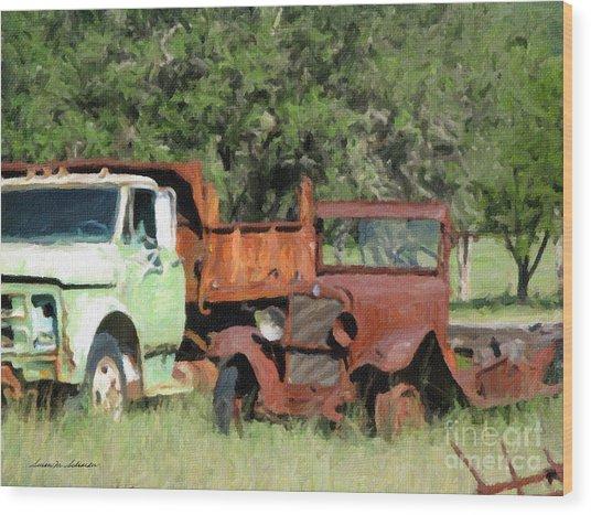 Rust In Peace No. 1 Wood Print