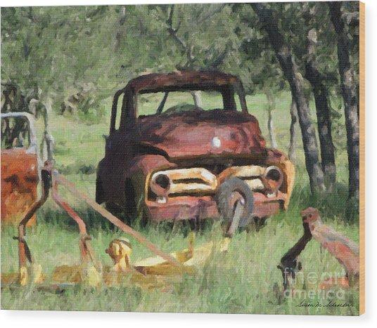 Rust In Peace No. 2 Wood Print