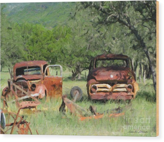 Rust In Peace No. 3 Wood Print