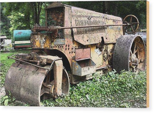 Rusted Buffalo Springfield Roller Wood Print