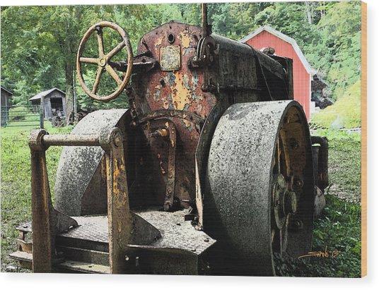 Rusted Buffalo Springfield Roller - Red Barn Wood Print