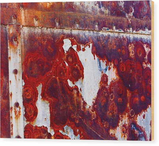 Rusted Metal Wood Print by Craig Brown