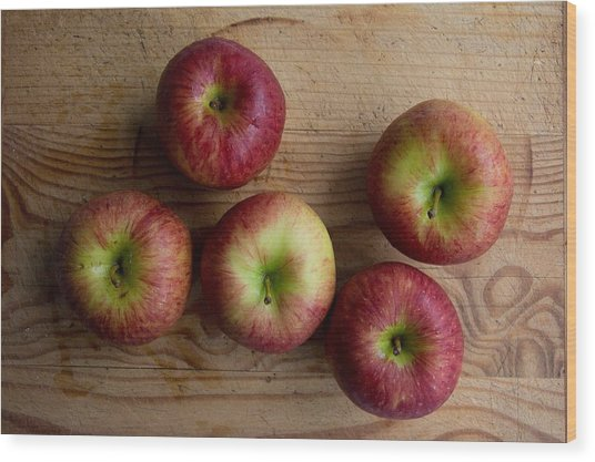 Wood Print featuring the photograph Rustic Apples by Jocelyn Friis