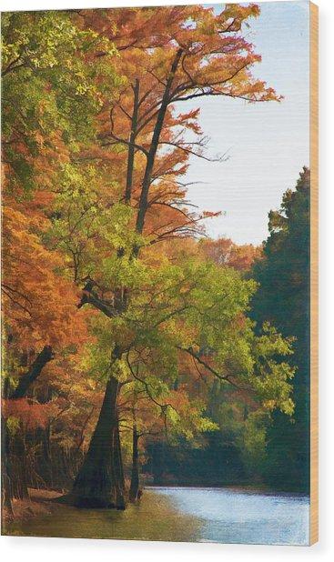 Rustic Autumn Wood Print
