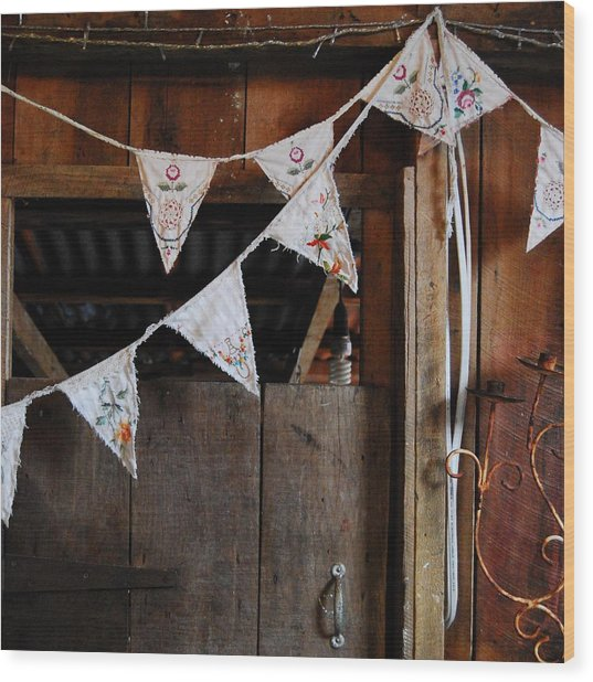 Wood Print featuring the photograph Rustic Bunting by Jocelyn Friis