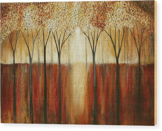 Rustic Forest Wood Print