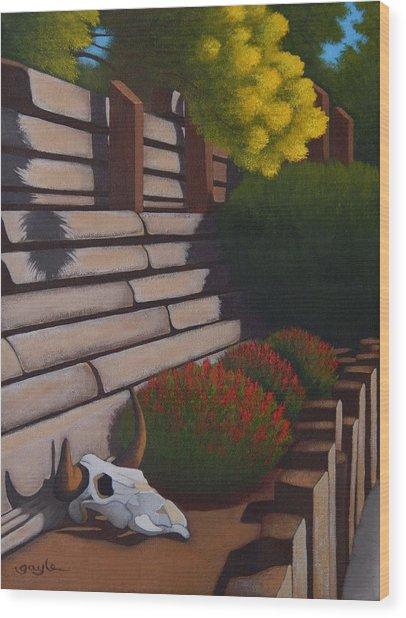 Rustic Garden Wood Print
