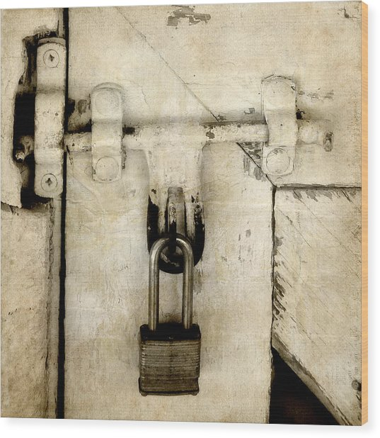Rustic Lock Out Wood Print