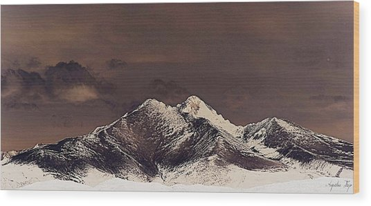 Rustic Mountain Wood Print by Augustina Trejo