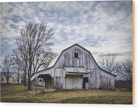 Rustic White Barn Wood Print