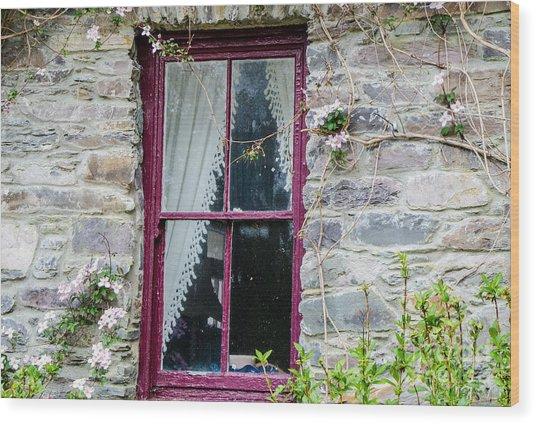 Rustic Window  Wood Print