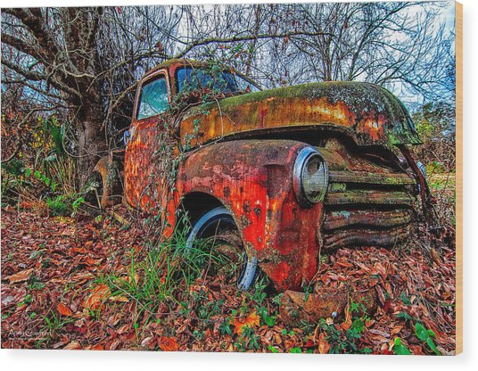 Rusty 1950 Chevrolet Wood Print