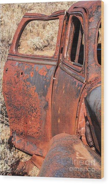 Rusty Doors Wood Print