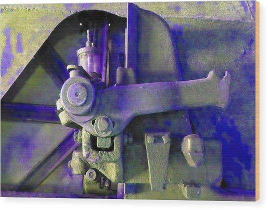 Rusty Machinery Wood Print